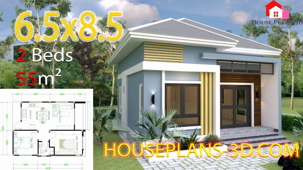 5 Bedroom House Plans 3d Lovely Small House Design 6 5x8 5 With 2 Bedrooms Hip Roof Kiến Truc Nha Cửa Ngoi Nha Mơ ước