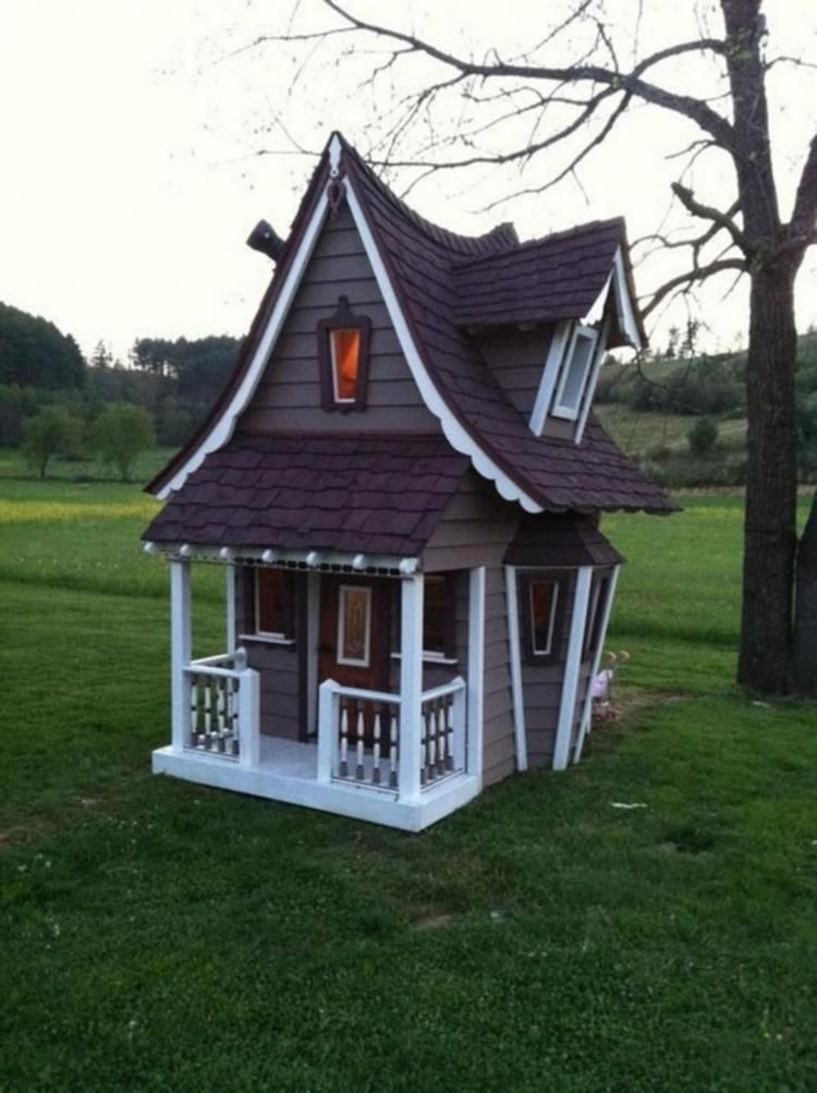best crooked tree house design for fun children also inner kid images play houses playhouse ideas backyard rh pinterest