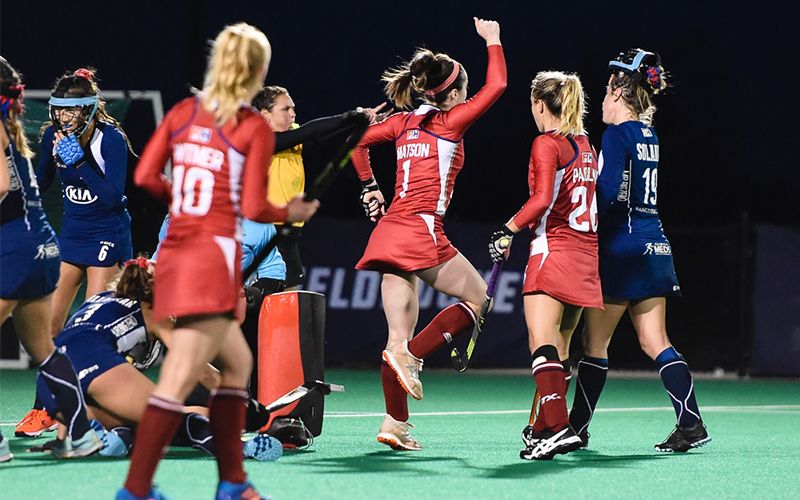 The U S Women S National Team Came Out Strong In Their Second Match Of The Four Game Series Against No 15 Chile At Spoo Spooky Nook Sports Field Hockey Match