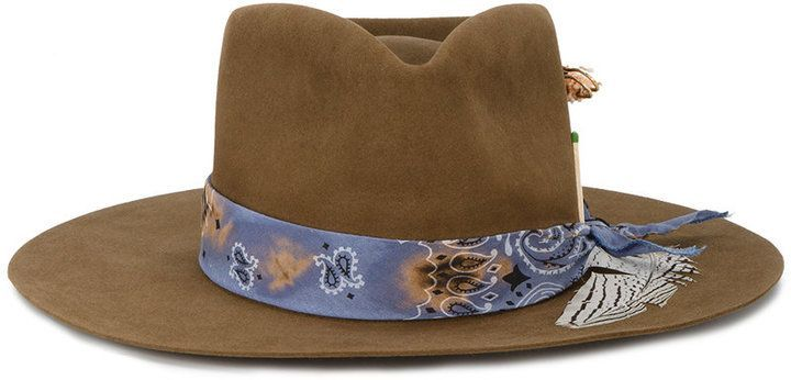 Bandito feather trim hat - Brown Nick Fouquet Free Shipping Get Authentic Get To Buy Online xIavSbIPe