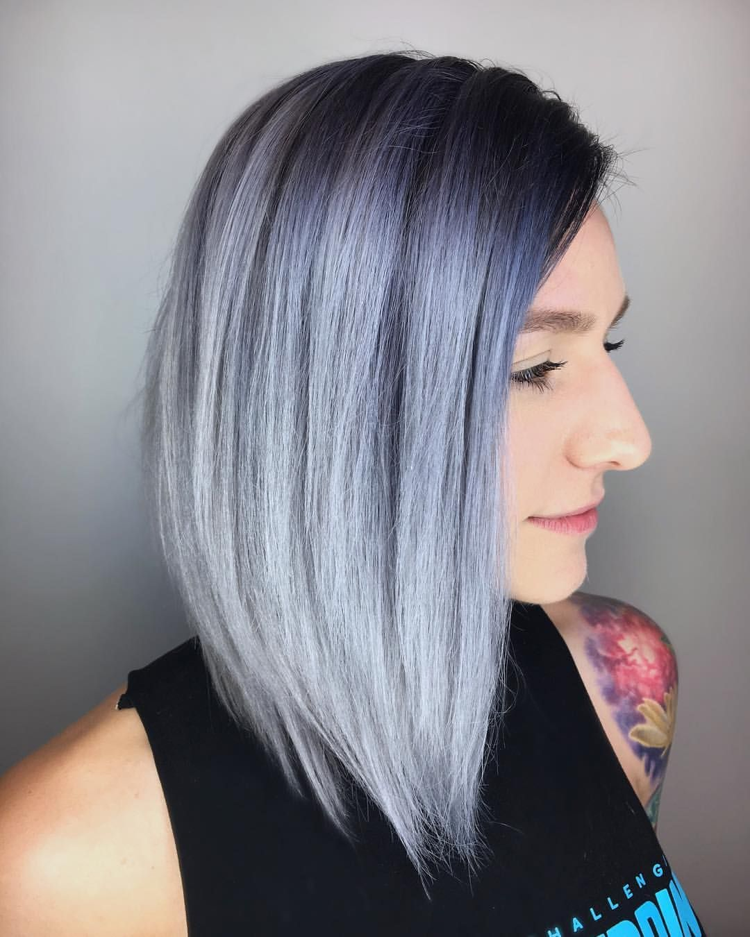 266 Likes 21 Comments Seattle Wa Stylist Keri S Hairlizard On Instagram Midnight Ice Refreshed This B Hair Stylist Color Melting Platinum Color