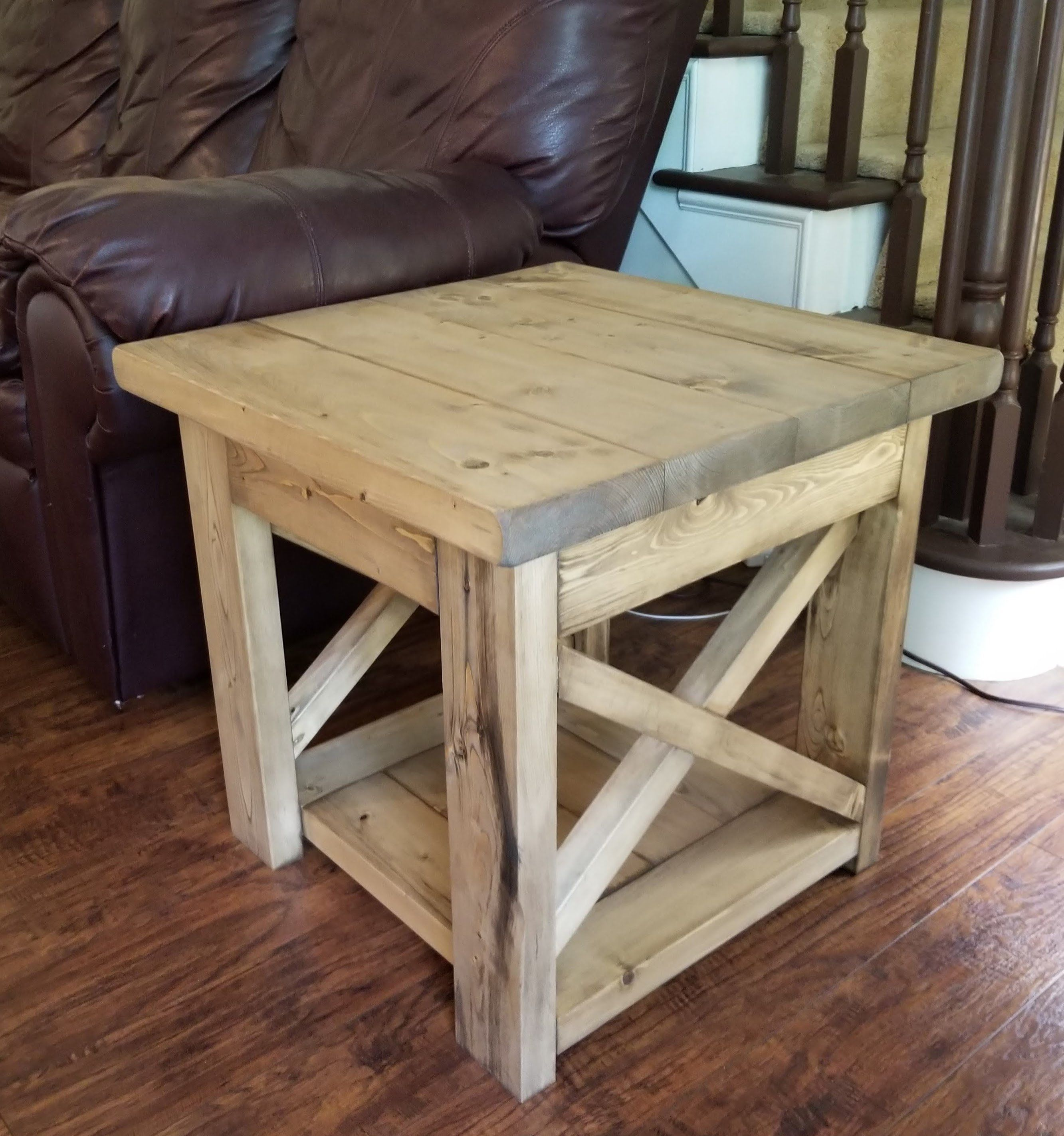 farmhouse x rustic end table by ngfoothillsfurniture on on modern farmhouse patio furniture coffee tables id=71232