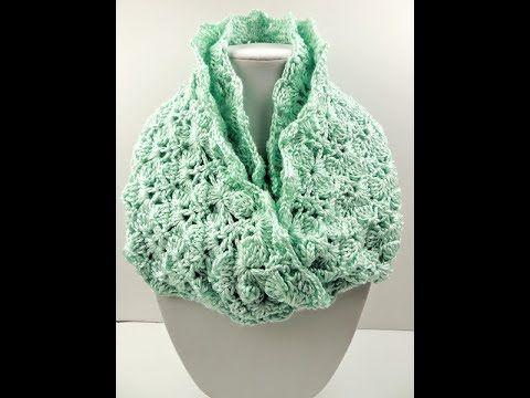 YouTube tutorial infinity scarf | crochet | Pinterest | Häkelmuster ...