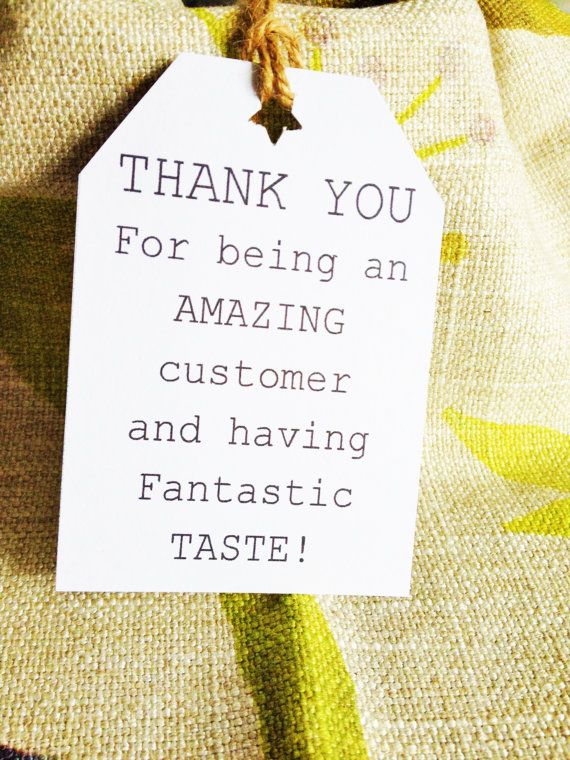 Sellers Thank You Tags Paper Tags Packaging Idea Gift Tags