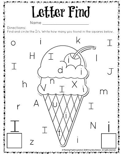 Cute Letter Find Worksheets with a Freebie | Kindergarten ...