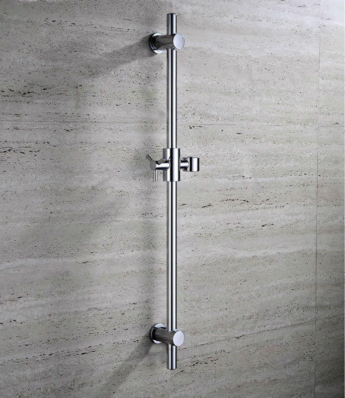 Stainless Steel Shower Sliding Bars With Handheld Shower Bracket Height Angle Adjustable Chrome 15 020 Shower Bracket Faucet Accessories Slide Bar