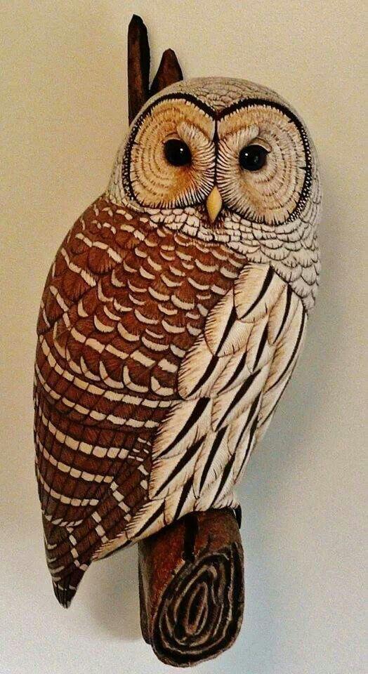 Wood carved owl wood carvings keramik eule holz brandmalerei