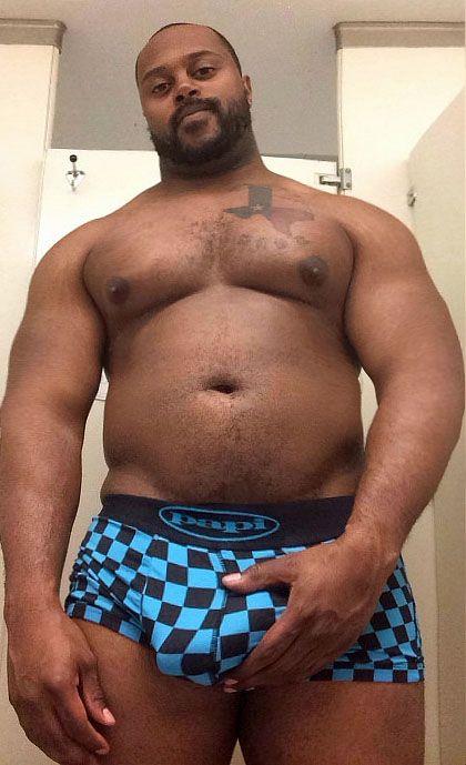 Mature gay black man