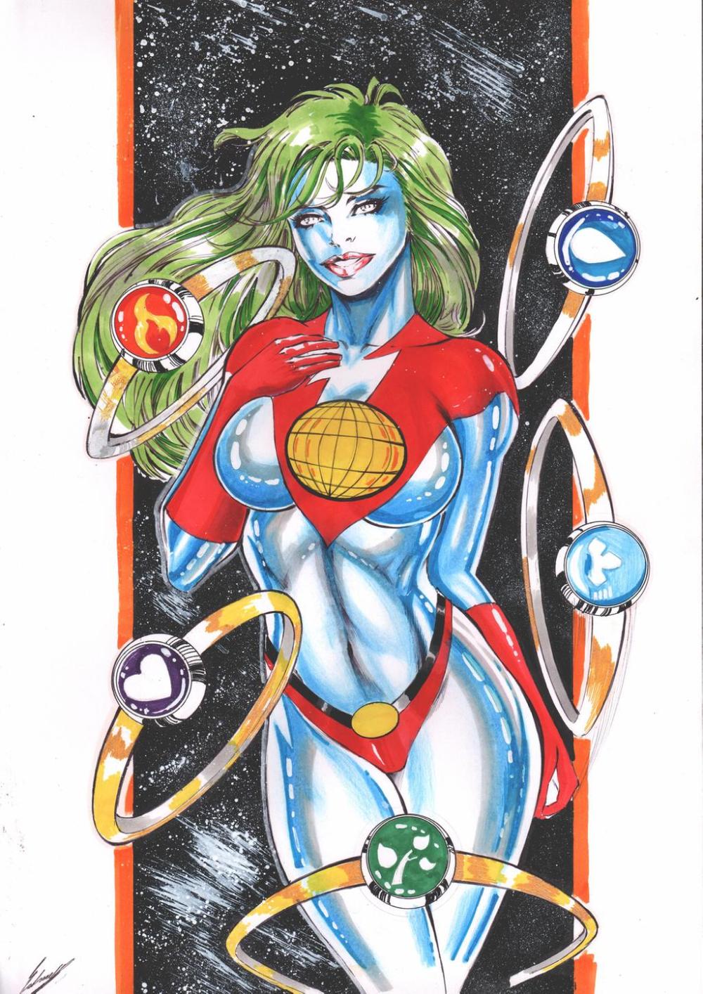 Female Version Captain Planet By Ednardo666 On Deviantart Cartoon Planets Art Captain Planet Rings
