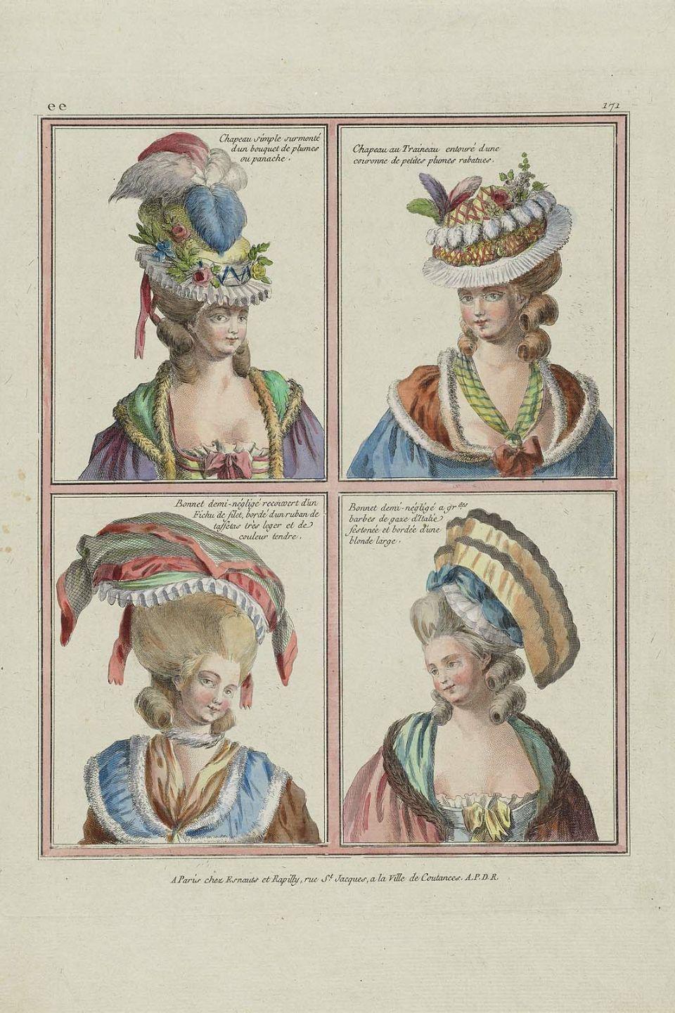 choisir authentique recherche d'officiel grande vente de liquidation 1780 Chapeau simple surmonté d un bouquet de plumes ou ...