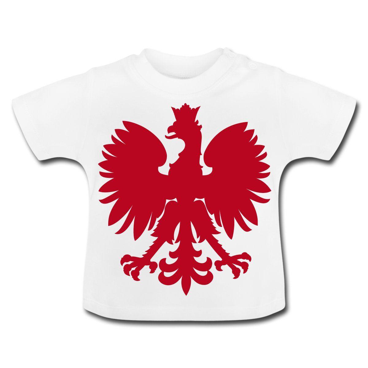 Polska Baby Shirt [Weiß/Rot/Samtig] - Baby T-Shirt