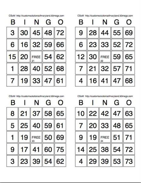 photo relating to Free Printable Bingo Cards With Numbers known as Printable+Bingo+Playing cards+4+Sheet Bingo playing cards Free of charge printable