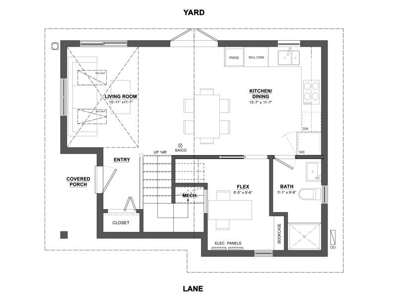 The Arbutus Laneway House is the epitome of best-use-of-space with an exterior access storage unit perfect for bicycles and garden tools.  sc 1 st  Pinterest & floor plan vancouver laneway house | House floor plans | Pinterest ...