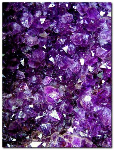 Sparkling Purple Rocks