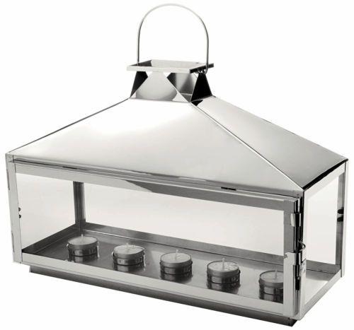 ✅ Silver Hampton Lantern £26 28cm x 39.5cm x 15cm