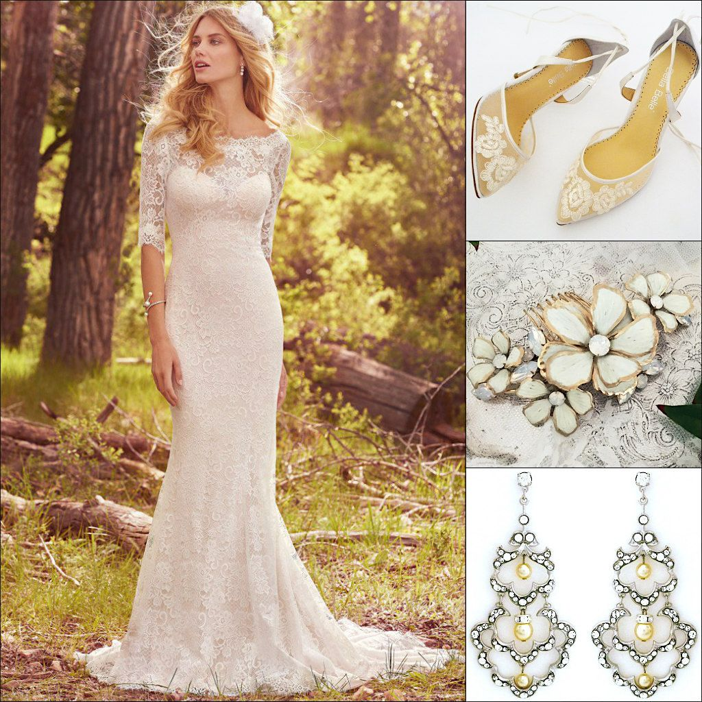 Maggie Sottero Mckenzie Lace Wedding Dress Given A Vintage Vibe