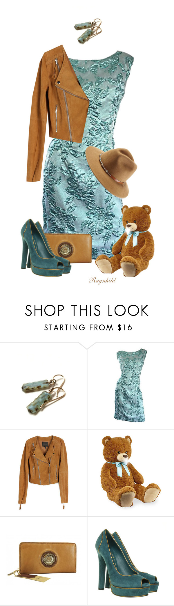 """Teal & Brown"" by ragnh-mjos ❤ liked on Polyvore featuring Paige Denim, Gucci and ále by Alessandra"