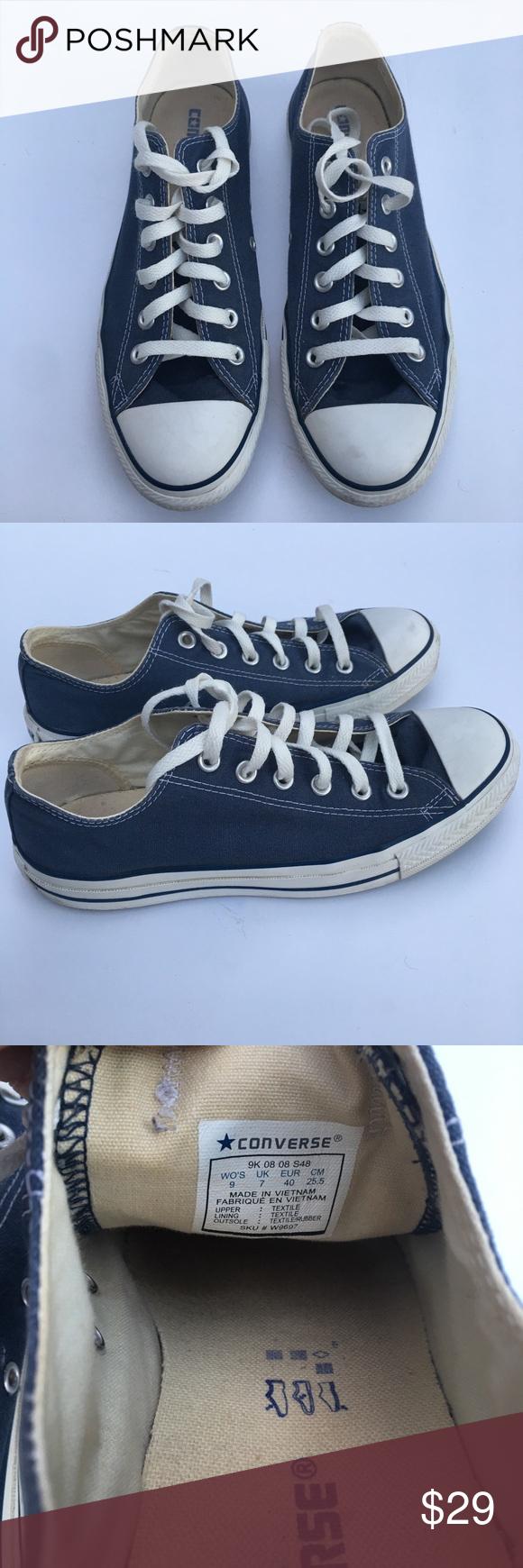 4552a17cbe82 Converse Womens Size 9 Blue Chuck Taylor Shoes Converse Womens Size 9 Blue  Canvas Chuck Taylor