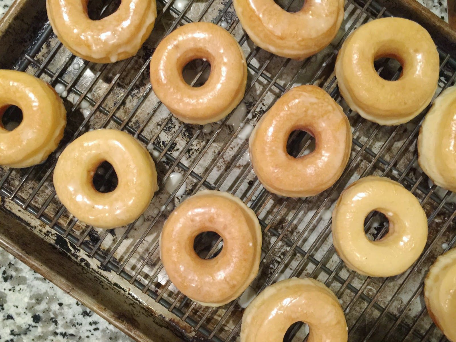 Thyme In Our Kitchen: Glazed Yeast Doughnuts