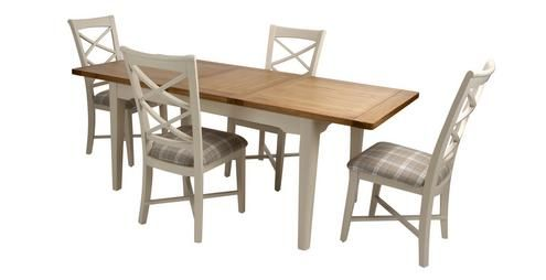 Shore Circular Small Extending Dining Table And Set Of 4 Cross Glamorous Dfs Dining Room Furniture Inspiration