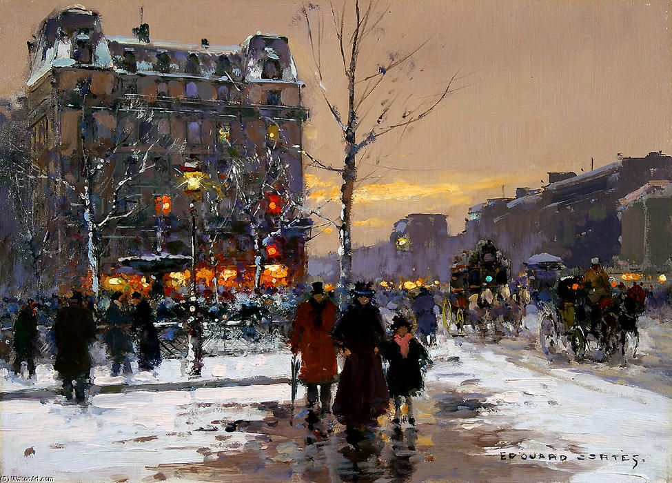 Place Pigalle by Edouard Cortes (1882-1969, France)