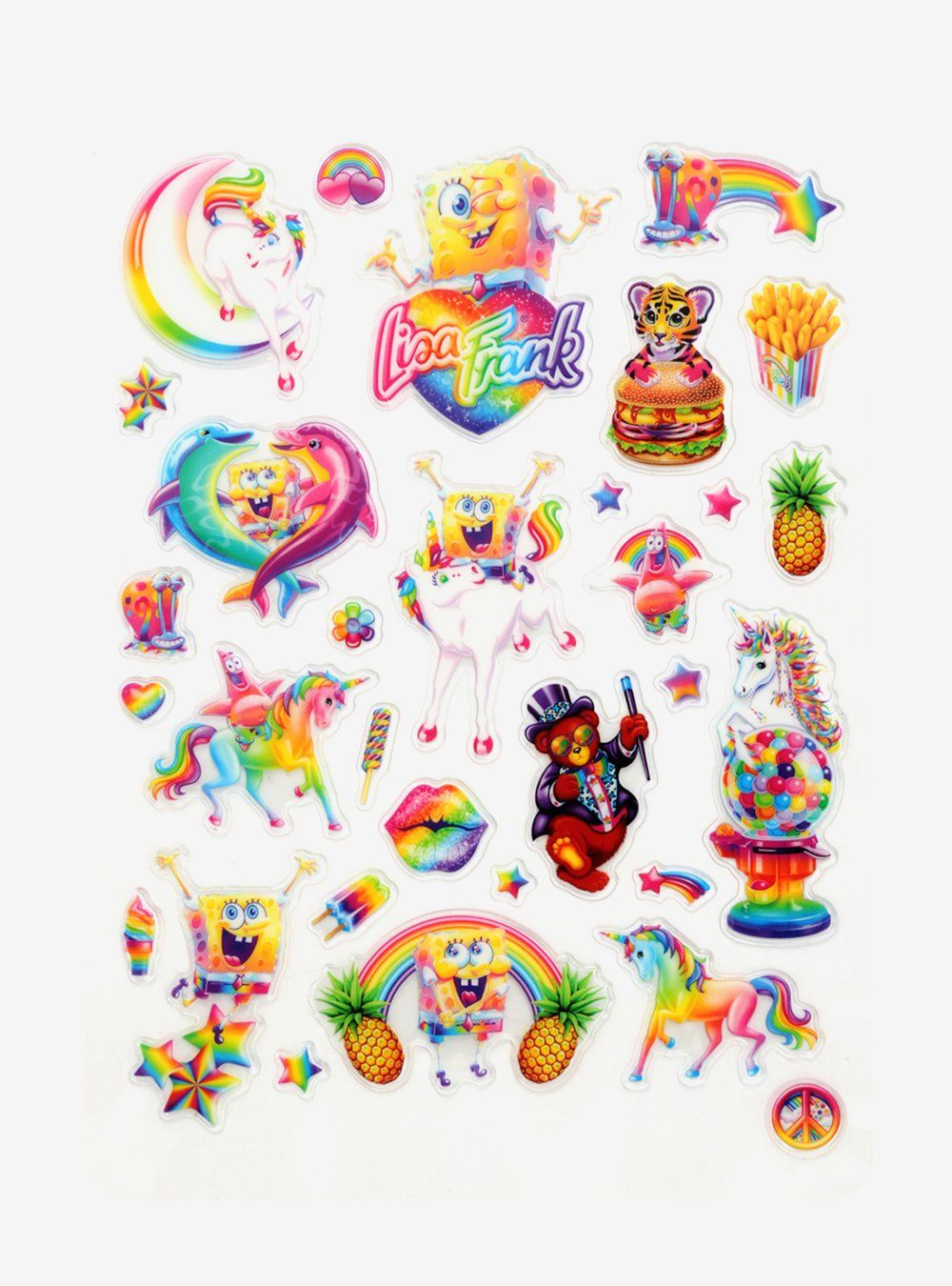 90s Kids Red Alert Lisa Frank Has A Freakin Spongebob Line And It S All Under 35 Lisa Frank Stickers Lisa Frank Sticker Art
