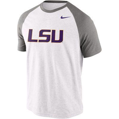 info for 428be b7a47 Nike LSU Tigers Big Play Raglan T-Shirt - White | Baseball ...