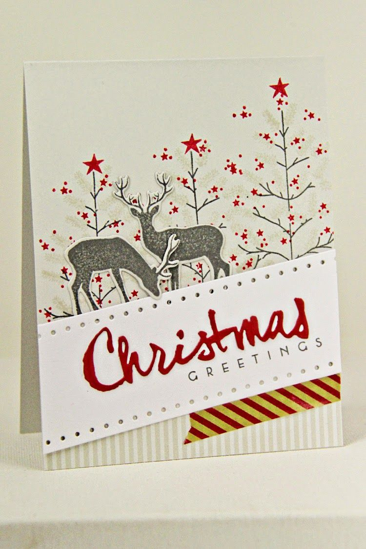 Christmas Greetings Card By Erin Lincoln For Papertrey Ink