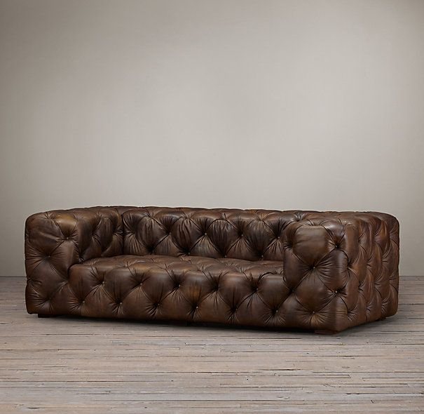 Soho Tufted Leather Sofas Restoration Hardware