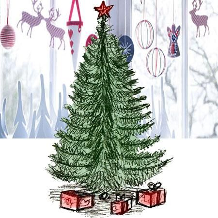 Coloring For Kids Draw A Christmas Tree In Pencil And Color It Christmas Tree Drawing Tree Drawing Christmas Drawing