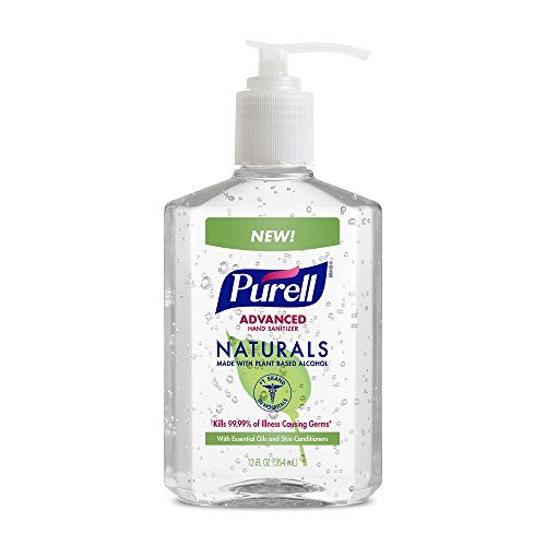 Purell Naturals Advanced Hand Sanitizer 12 Oz Pump Bottle