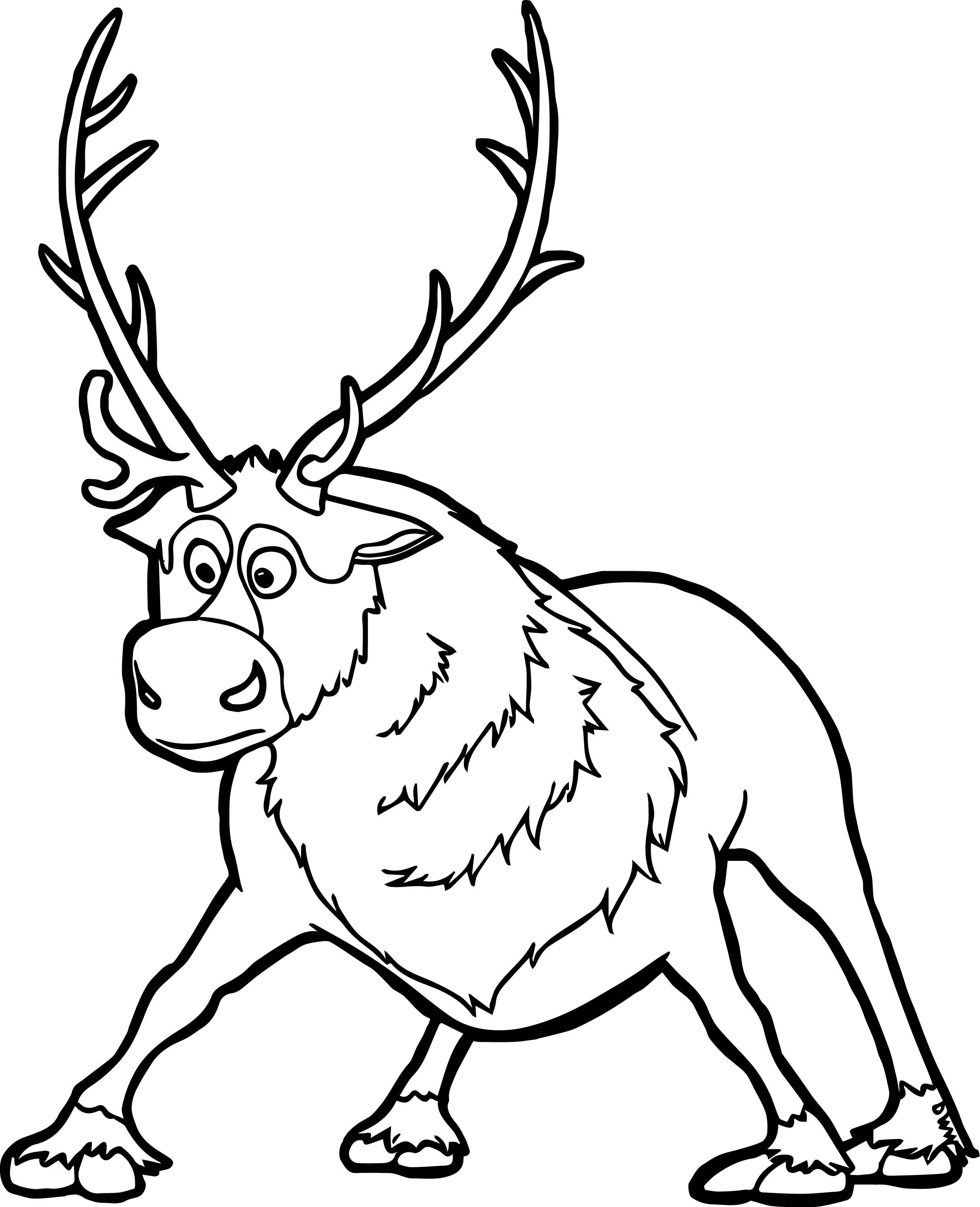 Sven Coloring Page Frozen coloring pages, Coloring pages