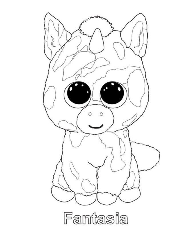 - Unicorn Beanie Boo Coloring Page - Youngandtae.com In 2020 Beanie Boo  Party, Beanie Boo Birthdays, Beanie Baby Birthday Party