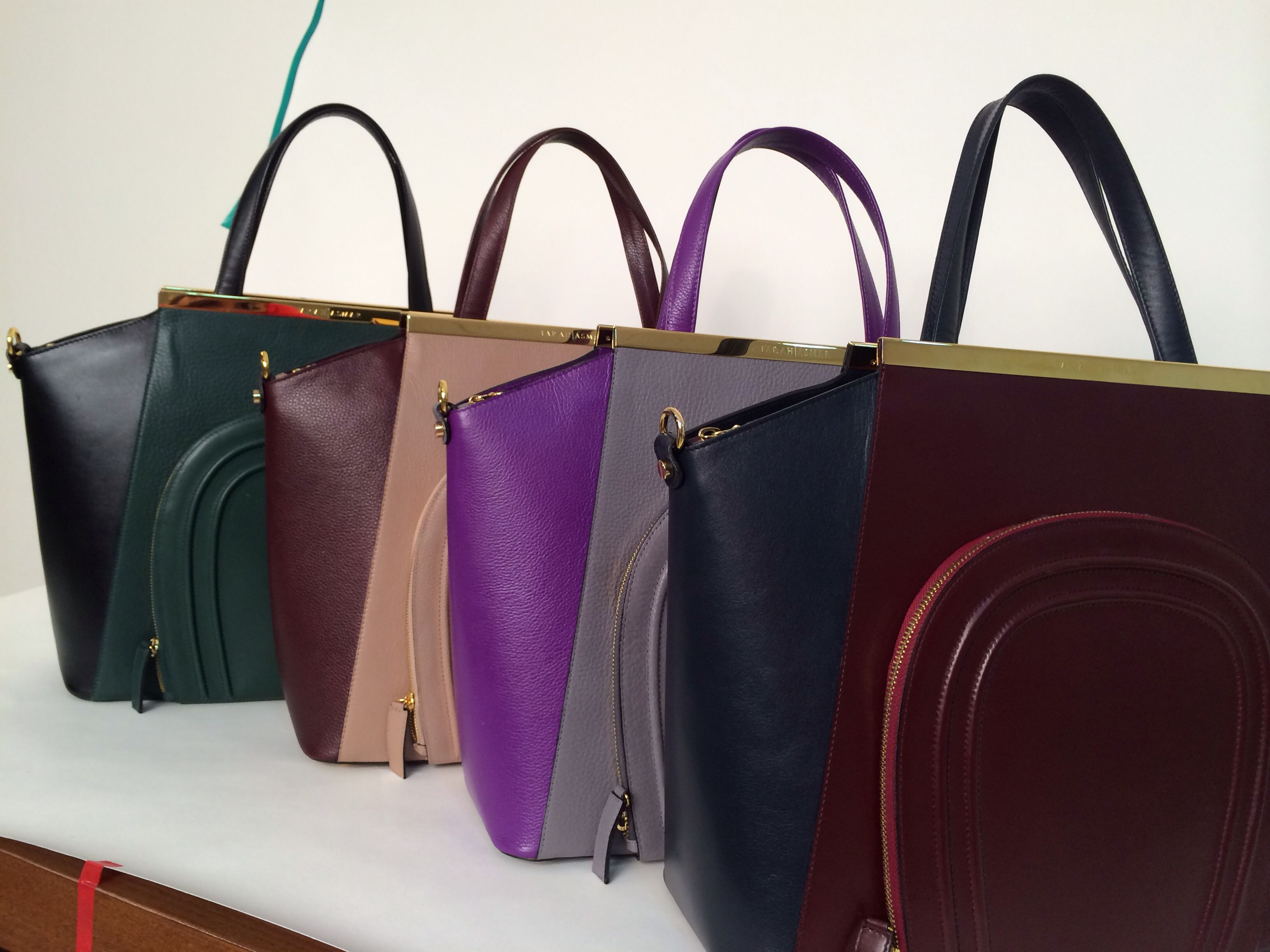 Shooting the SHARON TRAPEZE TOTE in beautiful jewel tones <3