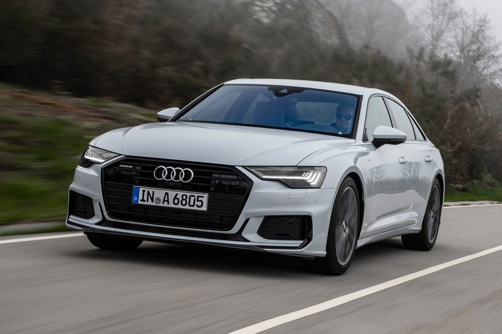 Audi A6 Saloon Review We Drive New Exec In Uk With Images Audi Luxury Hybrid Cars Audi A6
