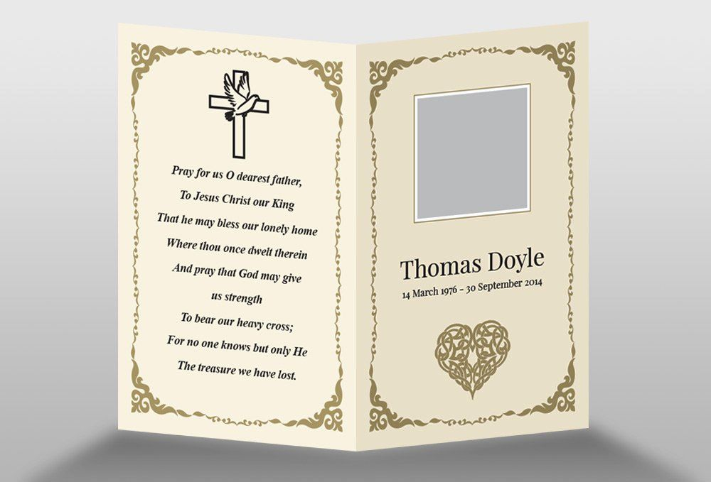 Free Memorial Card Template Lovely Free Memorial Card Template In Indesign Format Download In 2020 Memorial Cards For Funeral Memorial Cards Funeral Templates Free
