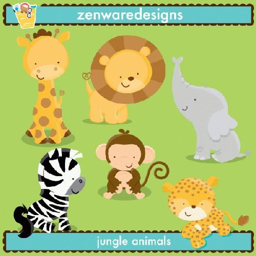 jungle animals clipart – Item 5 | Vector Magz | Free Download ...