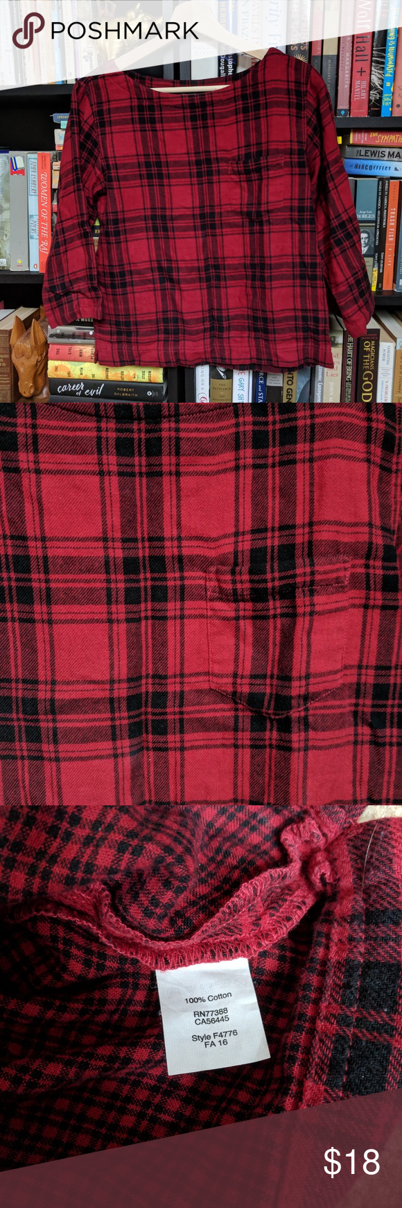 Red flannel 2018  Madewell Flannel Top in   My Posh Picks  Pinterest  Madewell