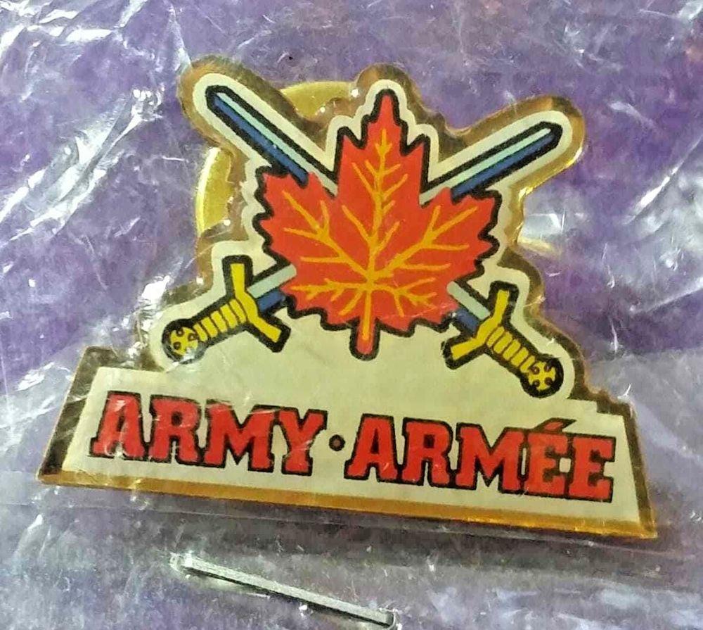 Canadian Army Lapel Hat Pin Nwt Maple Leaf Swords Canada