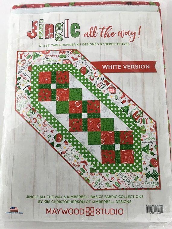 Jingle All teh Way! Fabric line: Kimberbell Basics Skill Level ... : quilted table runner kits - Adamdwight.com