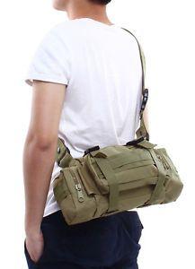Casual Outdoor Military Tactical Shoulder Pack Shoulder Bag MOLLE Khaki New | eBay
