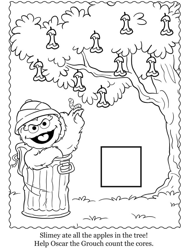 sesame beginnings coloring pages - photo#39