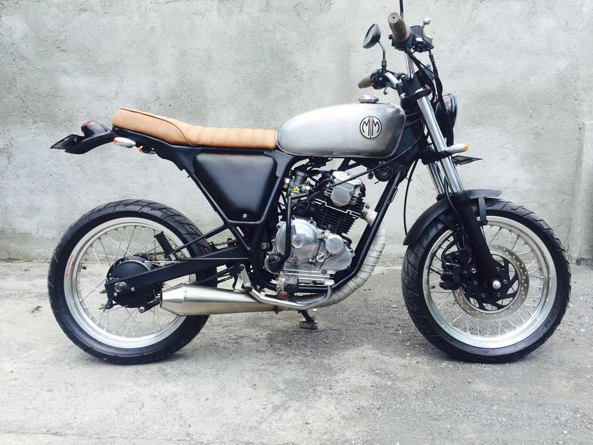Malamadre motorcycles mm69 street yamaha scorpio 225cc the authentic ride in bali