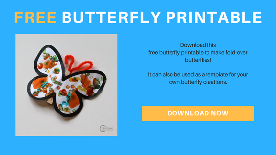 Photo of Colorful Toddler Butterfly Art