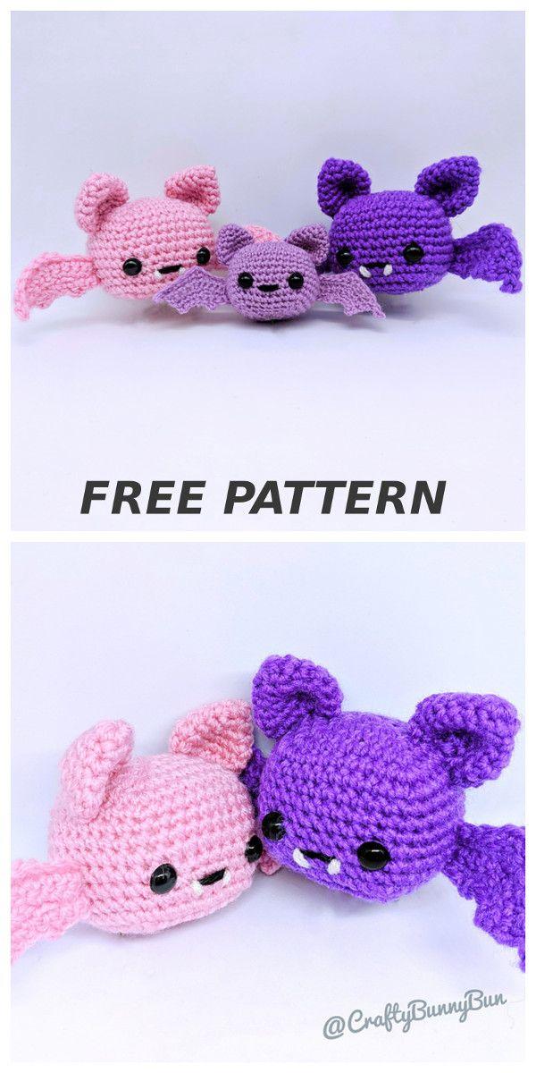 Spooky Batty Bat pattern by Crafty Bunny Bun #crochetamigurumi