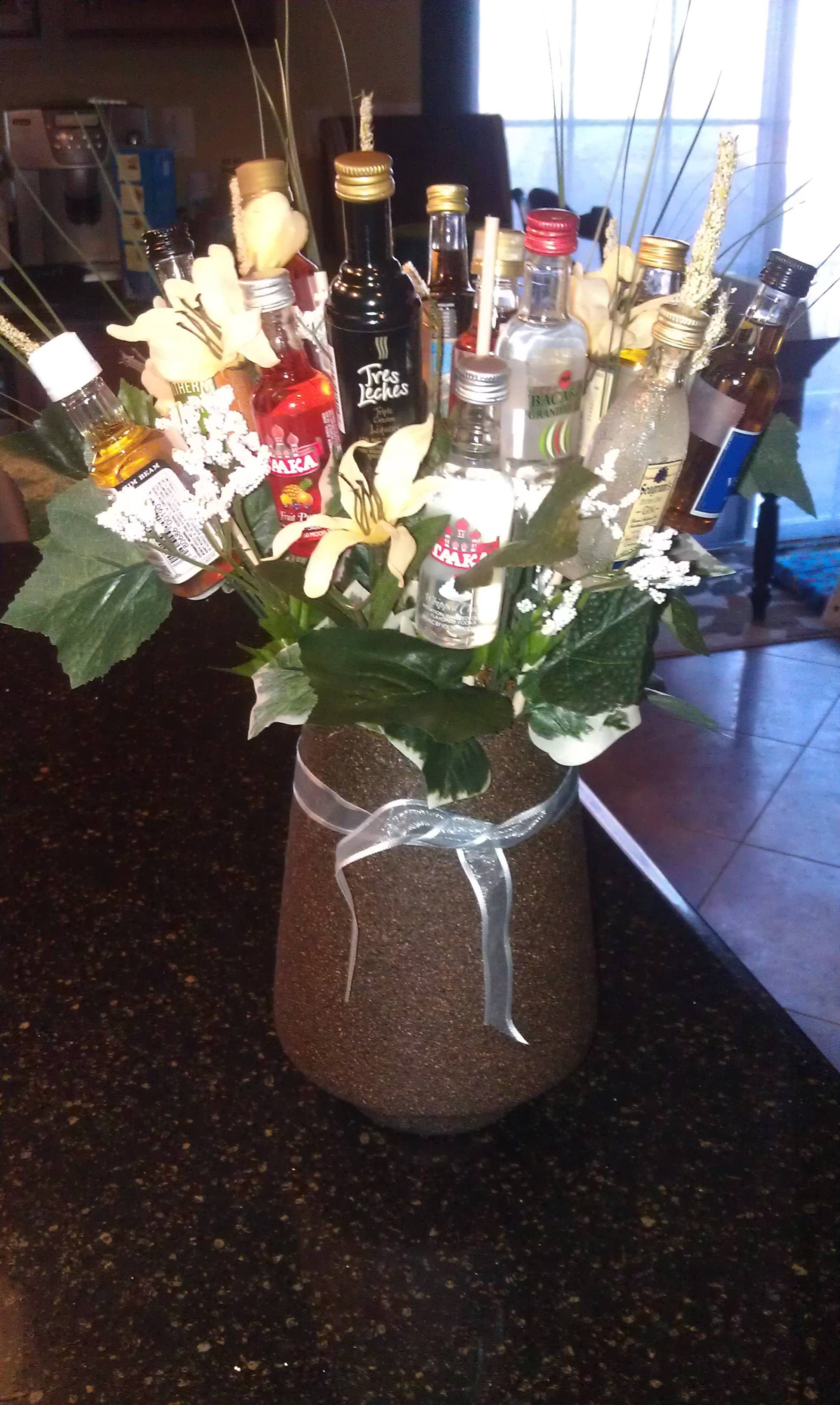 A new twist to flower bouquets a stock the bar couples shower maybe