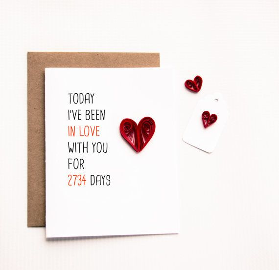 Days I Have Been In Love With You Card By Ofthingspretty On Etsy Birthday Message For Husband Valentine Gifts For Husband Husband Birthday
