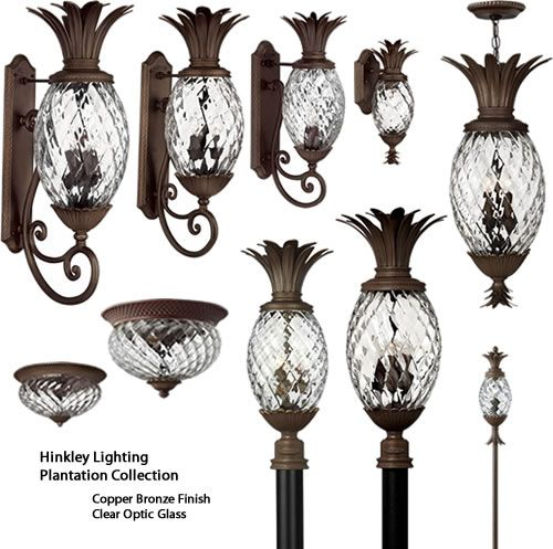 Hinkley Lighting S Plantation Outdoor Collection Includes Path Lights Wall Lanterns Pendants Post And Ceiling