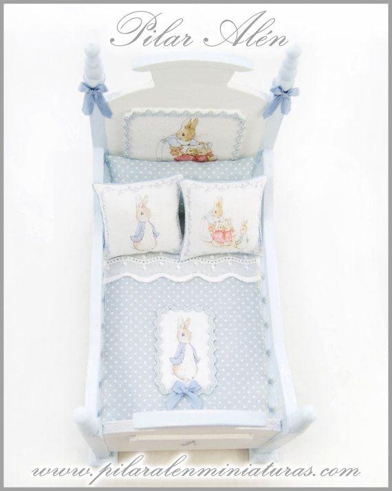Peter Rabbit crib for the dollhouse nursery