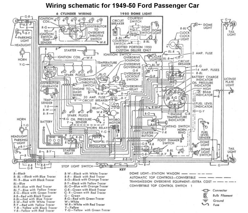 Wiring For 1949 50 Ford Car Electric Motor Diagram Electricity